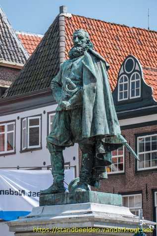 Ferdinand Leenhoff,  Jan Pietersz. Coen (Hoorn 1587 - Batavia, 1629), 1893,  Roode Steen, Hoorn ,Noord-Holland